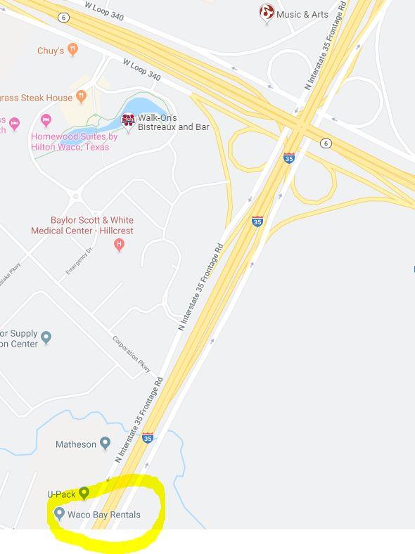 Waco Bay Rentals, 6186 S  I-35 Waco, Tx  – Primo Location